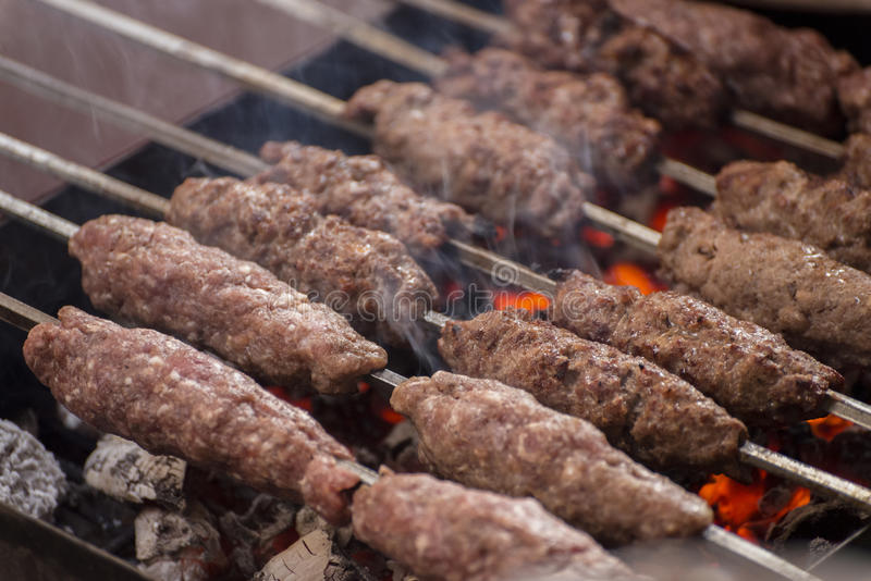 Grilled Kofta royalty free stock photos