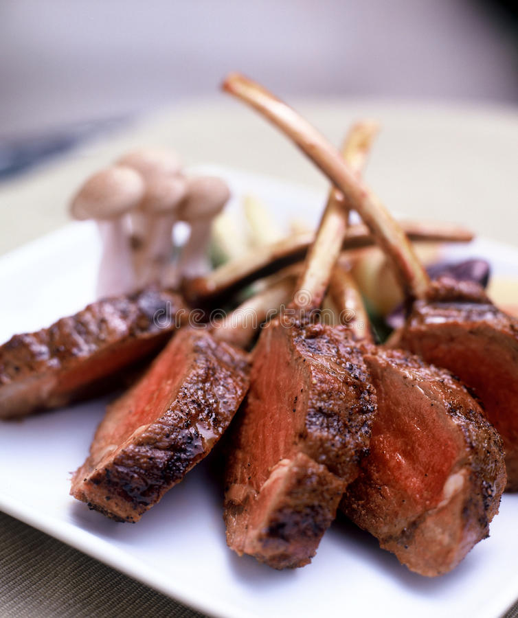Free Grilled Lamb Chops Royalty Free Stock Photos - 10347328