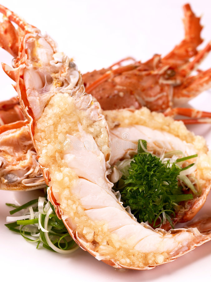 Download Grilled Lobster With Garlic Stock Image - Image: 3215943