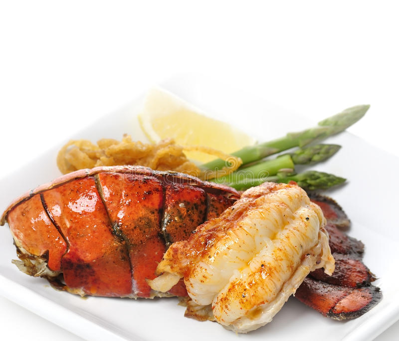 Grilled Lobster Tail Royalty Free Stock Image
