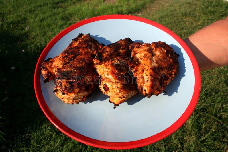 Grilled marinierte Hühnerbrust 4 lizenzfreies stockfoto