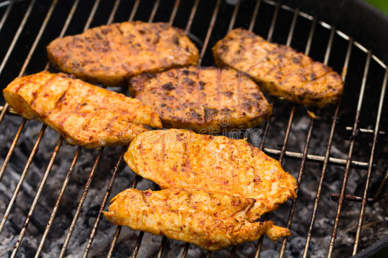 Download Grilled Meat,Barbecue In The Garden Stock Image - Image of product, garden: 25383457