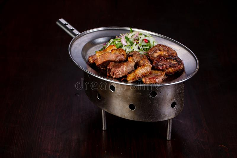 Grilled meat bbq stock photo