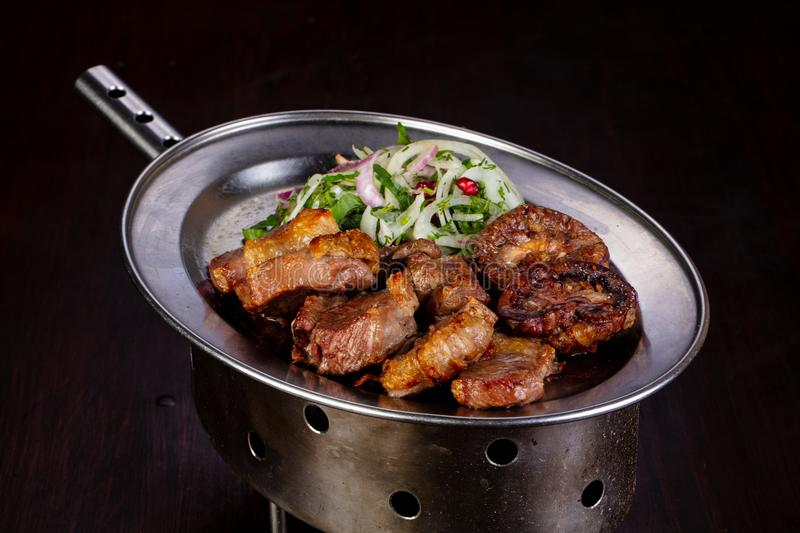 Grilled meat bbq royalty free stock photo