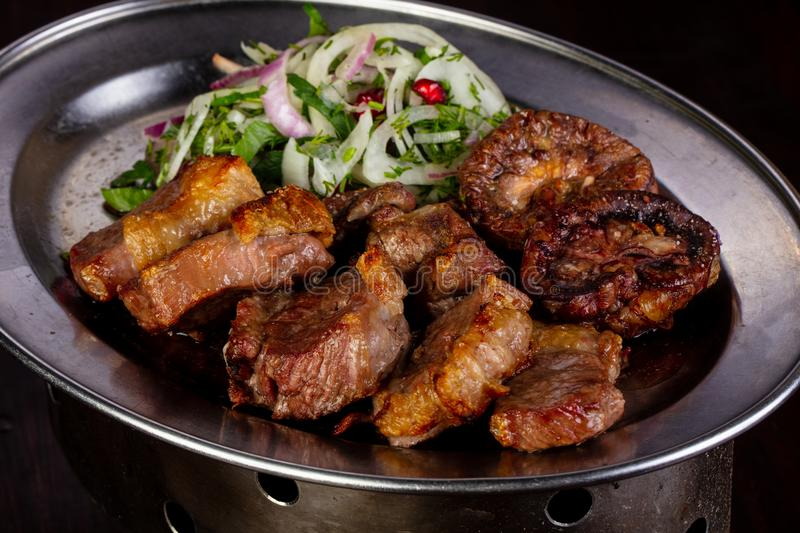 Grilled meat bbq royalty free stock image