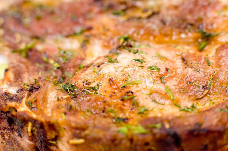 Grilled meat, macro stock photo