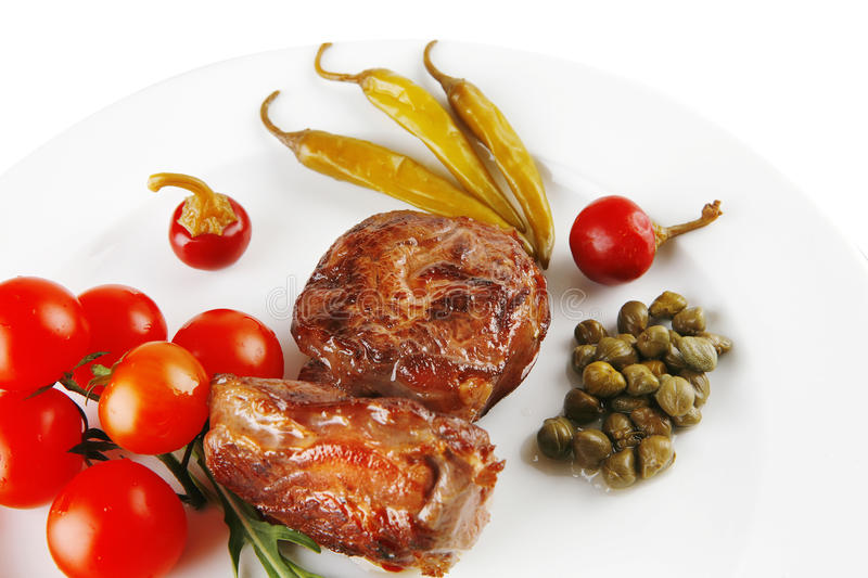 Download Grilled Meat Medallion Served On Stock Photo - Image: 14528072