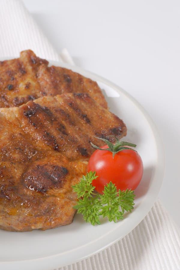 grilled meat pork στοκ εικόνες