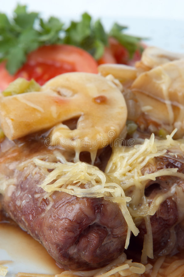 Download Grilled meat rolls stock photo. Image of mushroom, grill - 4197252
