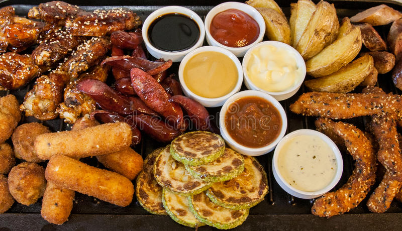 Download Grilled meat and sausages stock image. Image of barbecue - 30947963