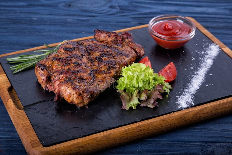 Grilled meat at Suochok royalty free stock photos