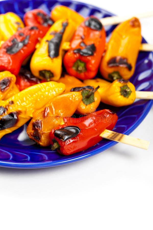 Download Grilled Mini Sweet Peppers stock photo. Image of healthy - 39509290