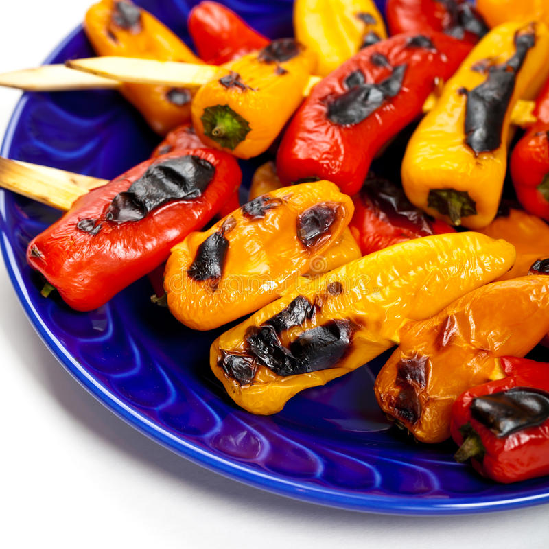 Download Grilled Mini Sweet Peppers stock photo. Image of pepper - 39509292