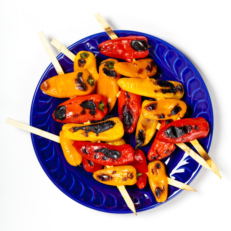 Download Grilled Mini Sweet Peppers stock photo. Image of healthy - 39509308