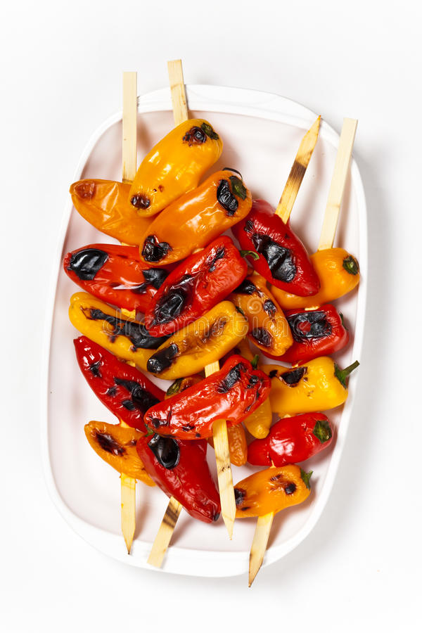Download Grilled Mini Sweet Peppers stock photo. Image of mini - 39509334