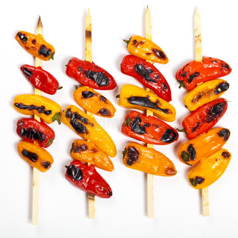 Download Grilled Mini Sweet Peppers stock image. Image of paprika - 39509369