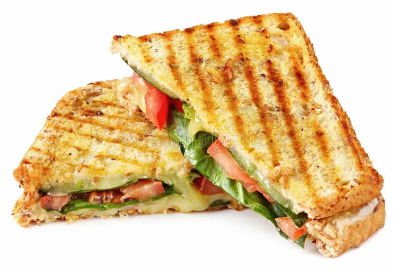Grilled Panini royalty free stock photos