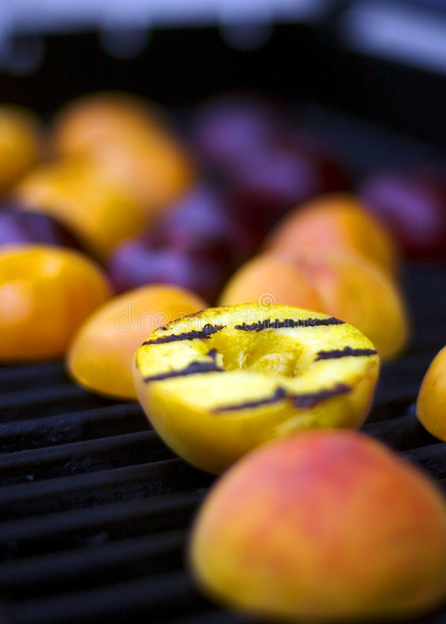 Grilled Peach royalty free stock photos