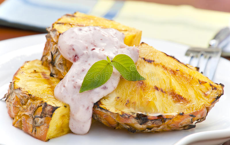 Grilled Pineapple stock image