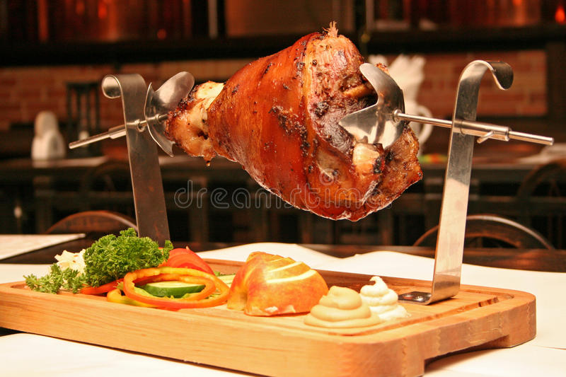 Download Grilled pork stock image. Image of hind, pork, grill - 10028883