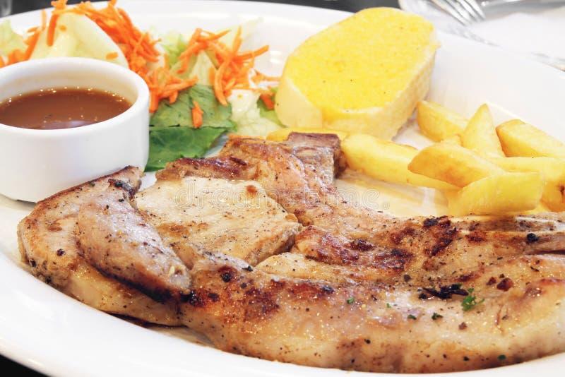 Download Grilled pork chop stock image. Image of dish, grilled - 25004341