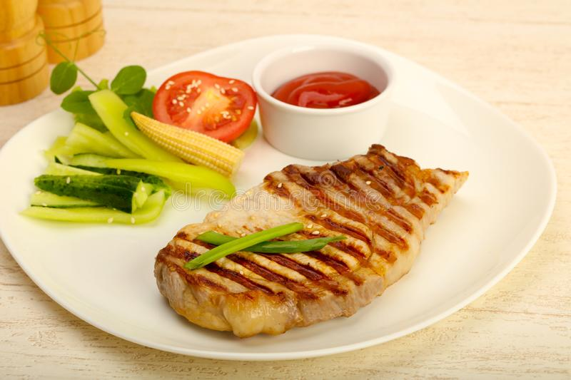Grilled pork cutlet royalty free stock photography