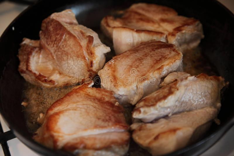 Grilled pork meat royalty free stock images