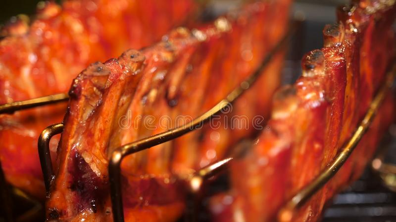 Grilled pork ribs. stock photography