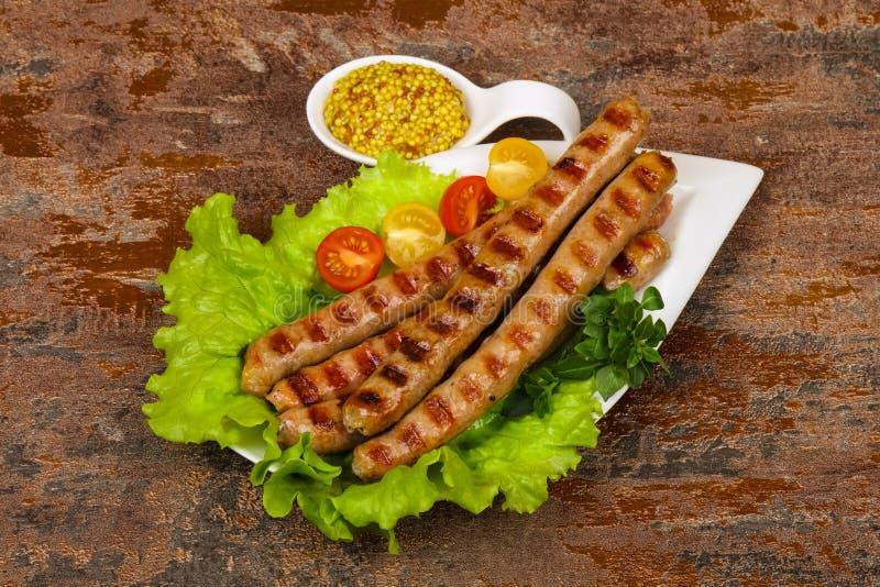 Grilled pork sausages royalty free stock image