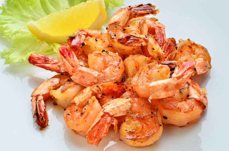 Download Grilled prawns stock photo. Image of meal, food, grill - 20678644