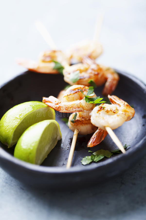 Download Grilled prawns stock photo. Image of spit, ready, prepared - 21792880