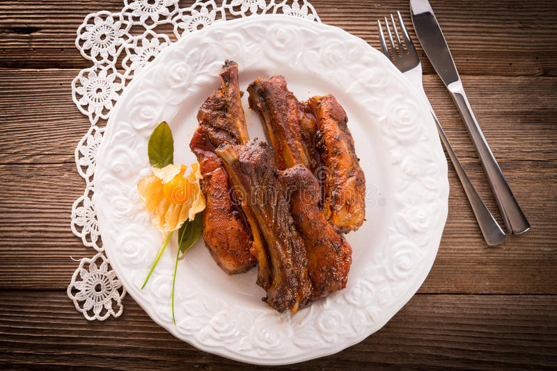 Download Grilled ribs stock image. Image of beef, grilled, nutrition - 28661525