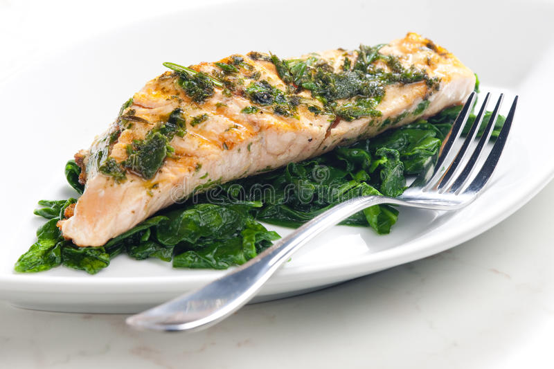 Download Grilled salmon stock photo. Image of foodstuff, dish - 13489540