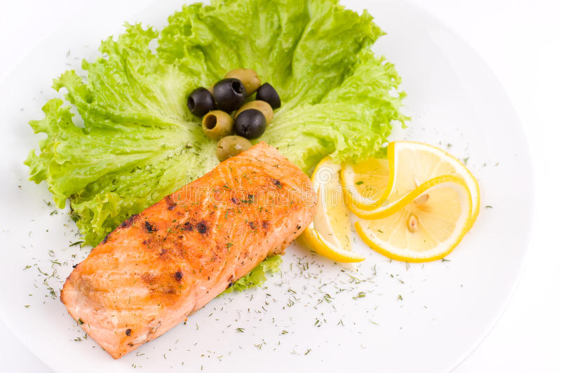 Download Grilled salmon stock image. Image of roasted, shallow - 18964473