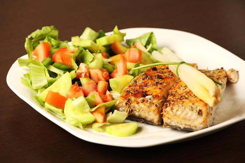 Download Grilled salmon stock photo. Image of salmon, fillet, grill - 23137444