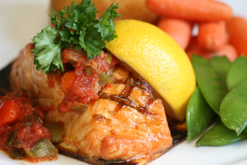 Download Grilled Salmon stock photo. Image of marks, supper, fish - 615900