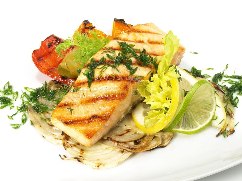 Grilled Salmon - Fish Fillet royalty free stock images
