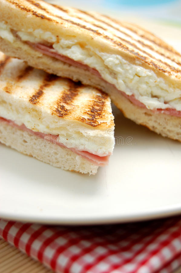 Grilled sandwich stock images