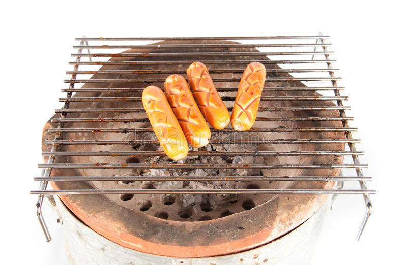 Download Grilled Sausage Over A Hot Barbecue Grill Stock Images - Image: 30887984
