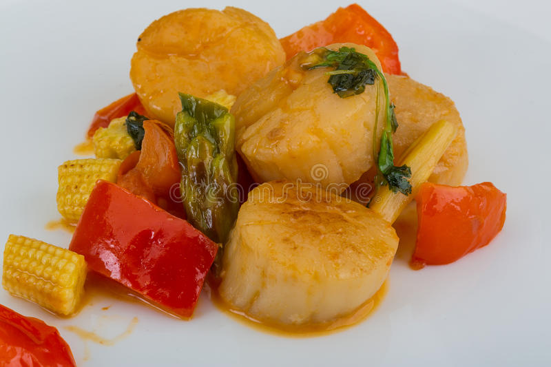 Grilled Scallops Salad Stock Photo - Image: 51506722