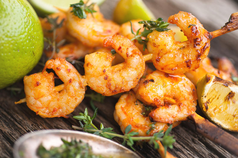 Grilled Scampi Royalty Free Stock Images