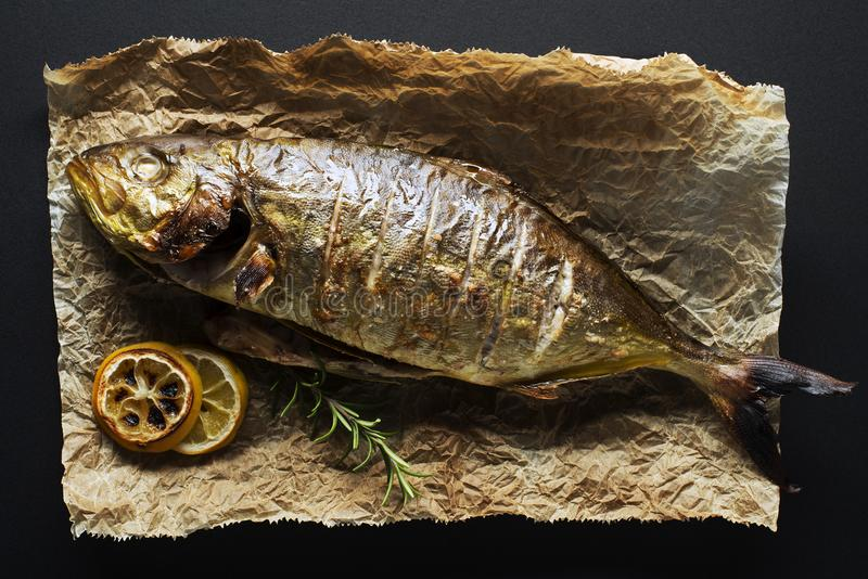 Fish food stock image
