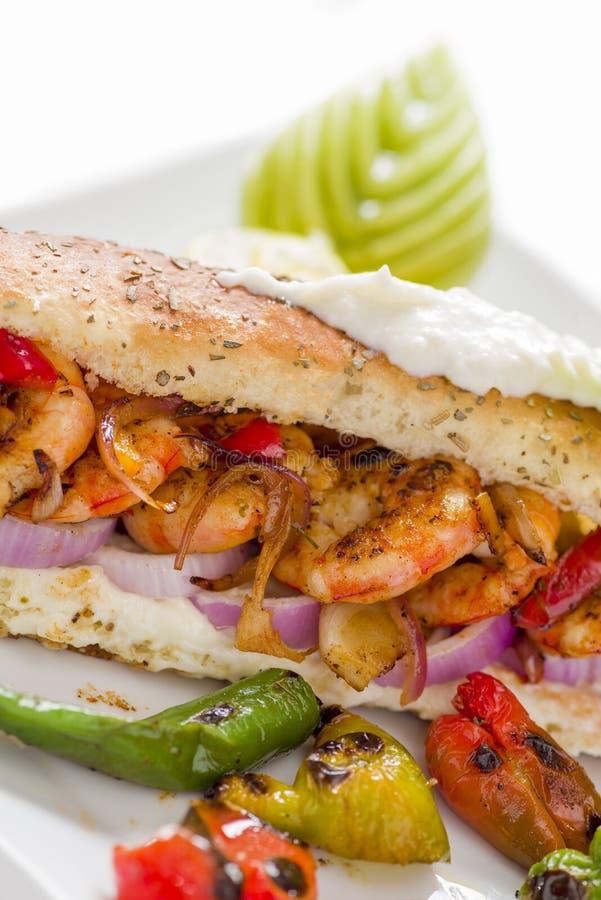 Grilled Shrimp Sandwich royalty free stock photos
