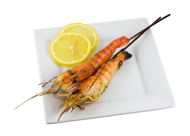 Download Grilled Shrimps stock image. Image of crustacean, bamboo - 6178935