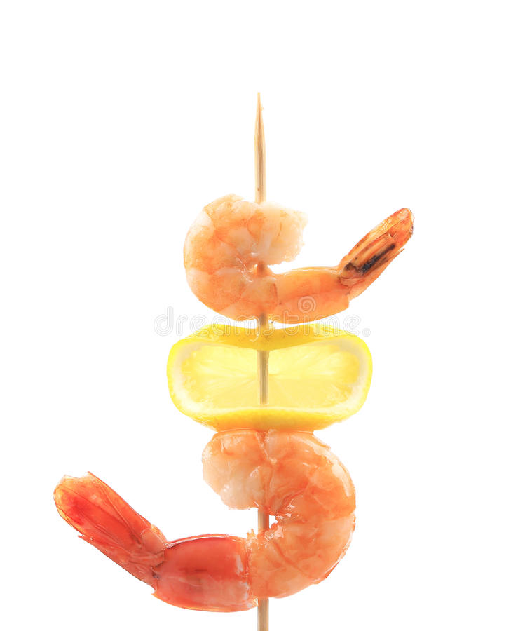 Download Grilled Shrimps On A Stick. Stock Photo - Image: 38458976