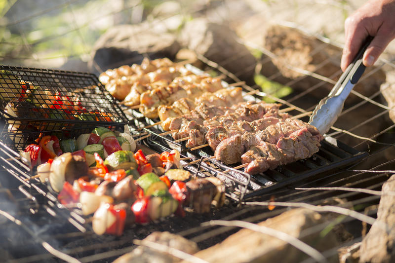 Download Grilled Skewers stock image. Image of cook, hunger, fresh - 41937965