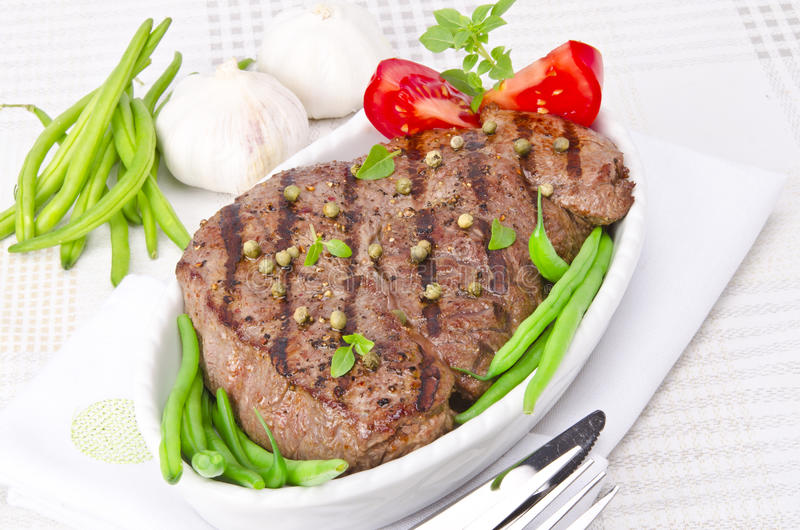 Download Grilled Steak. Barbecue stock photo. Image of beef, grilled - 25793288