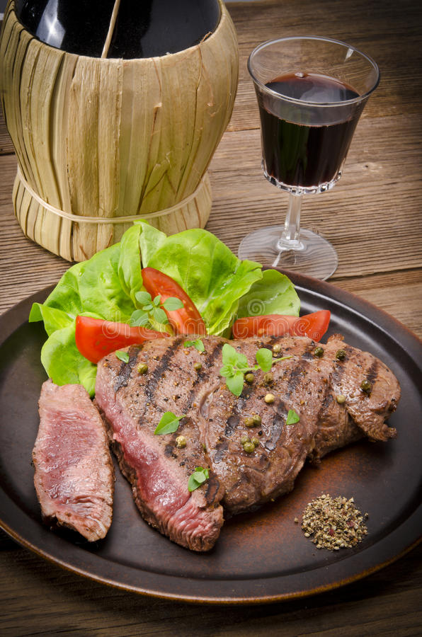 Download Grilled Steak. Barbecue stock image. Image of pepper - 26019337