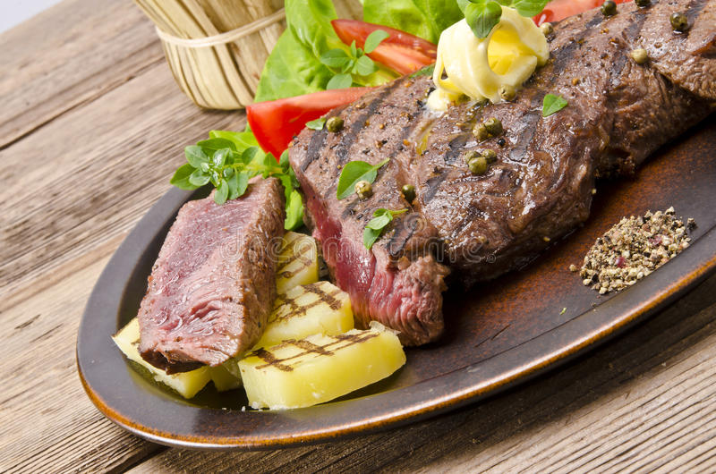 Download Grilled Steak. Barbecue stock image. Image of delicious - 26019357