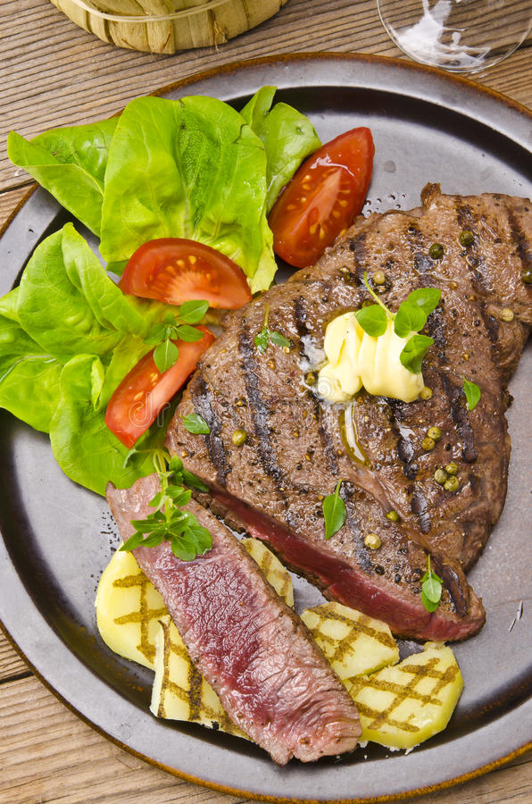 Download Grilled Steak. Barbecue Royalty Free Stock Images - Image: 26019359